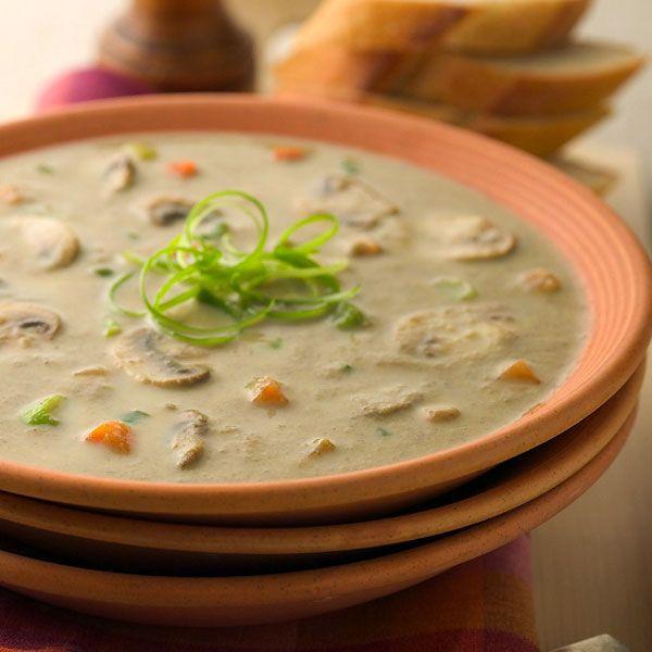 Light 'n Creamy Fresh Mushroom Soup