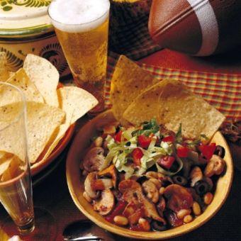 Mushroom Superbowl Chili