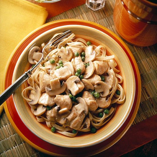 Mushroom and Chicken Alfredo