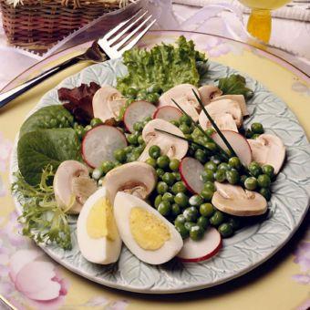 Spring Pea, Mushroom and Radish Salad