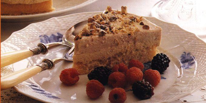 Pistachio and Chestnut Cream Mousse Cake