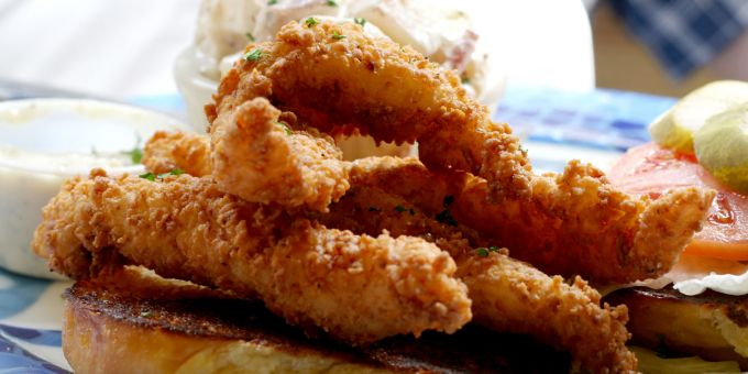 Crisp Fish Fingers with Tartar Sauce