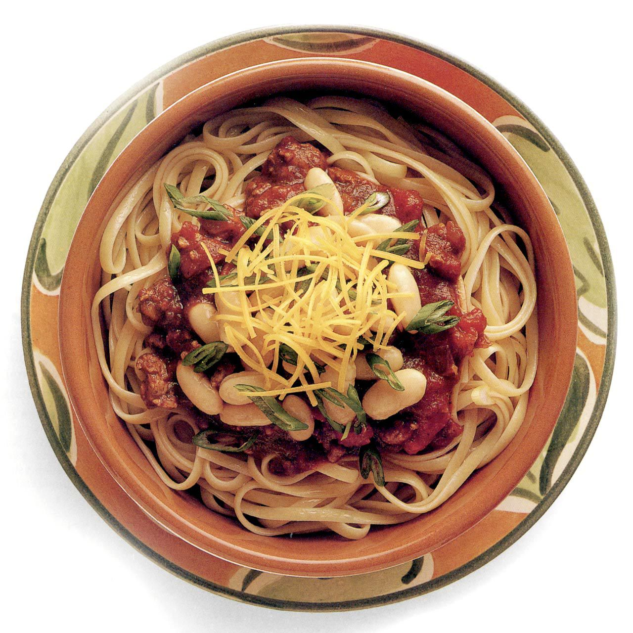 Linguine with Spicy Chili Sauce and Beans