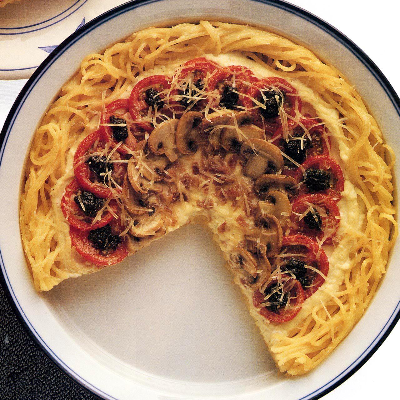 Four Seasons Pasta Pie