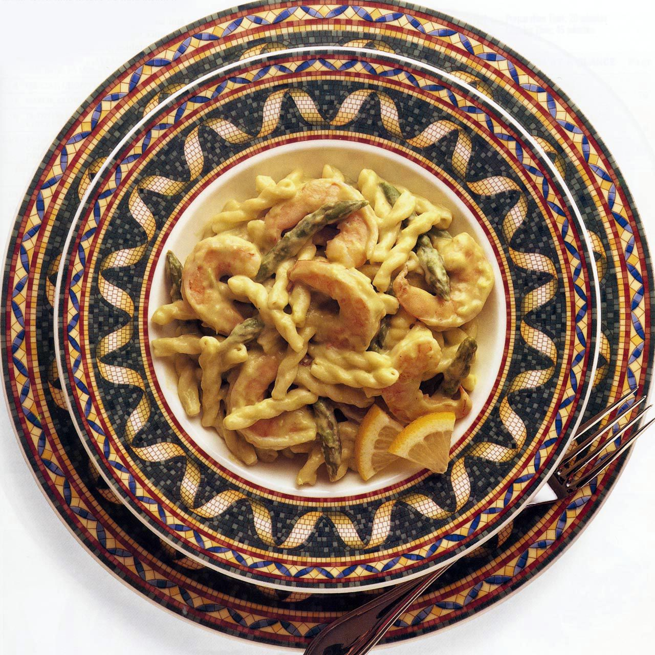 Pasta and Shrimp in Asparagus Sauce