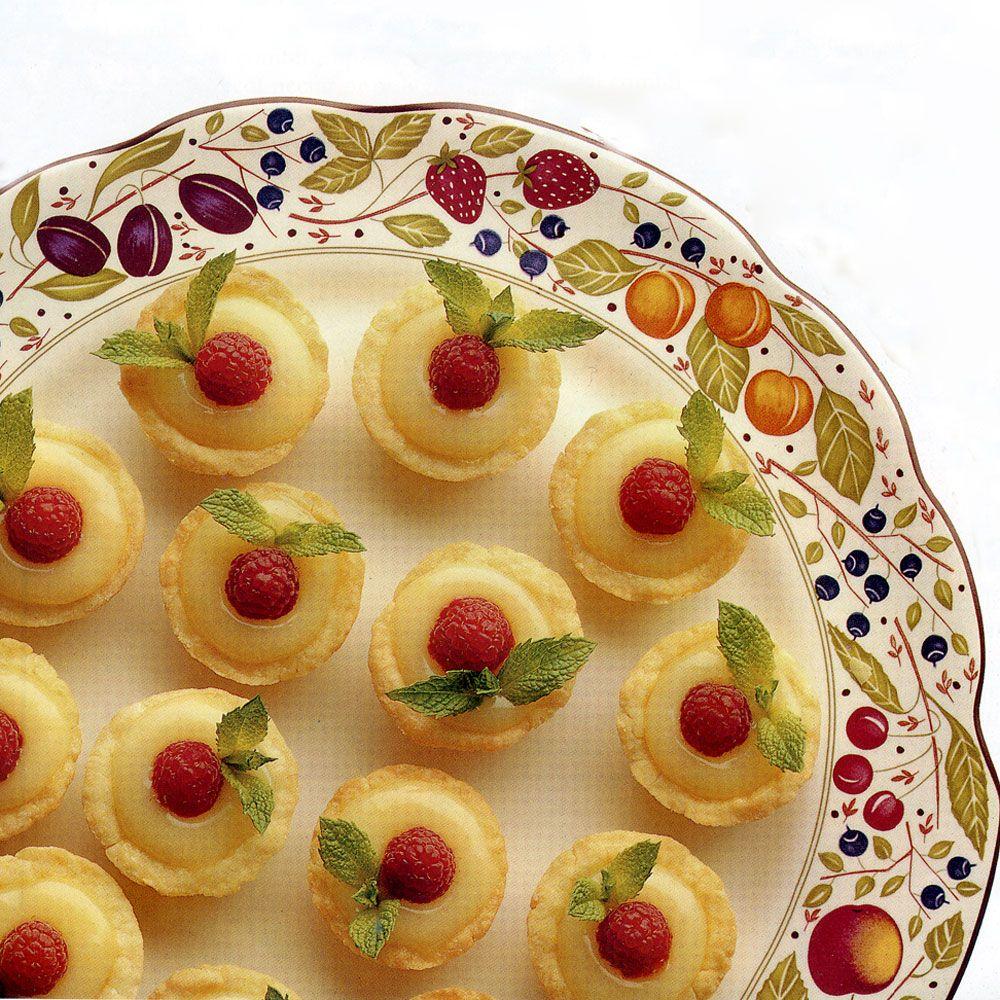 Lemon Curd-Raspberry Tartlets