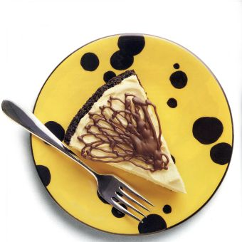 Peanut Butter Cream Pie with Chocolate Lace