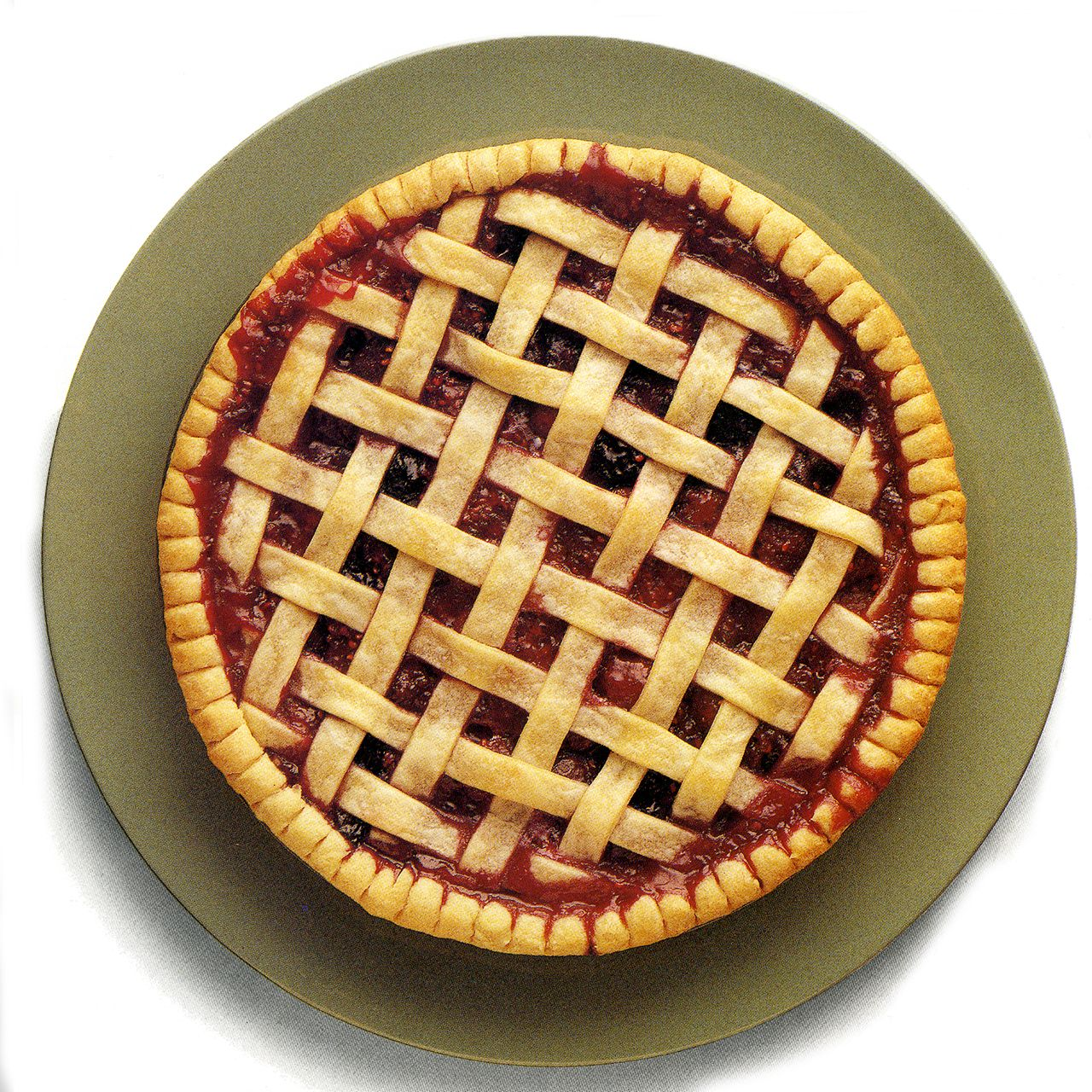 Cherry-Berry Lattice Pie