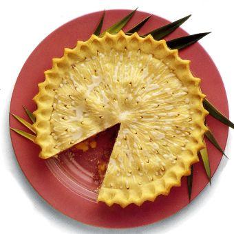 Glazed Pineapple-Rhubarb Pie