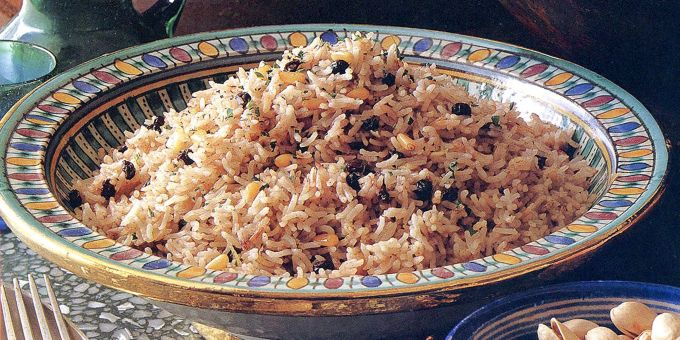Rice Pilaf with Pine Nuts
