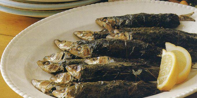 Fish in Grape Leaves
