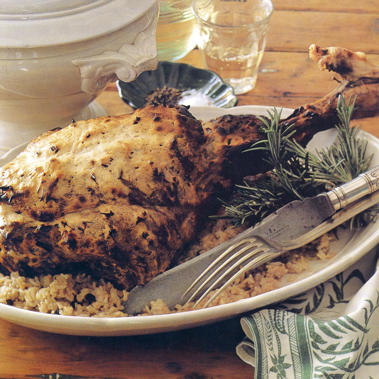 Roast Leg of Lamb with Yogurt