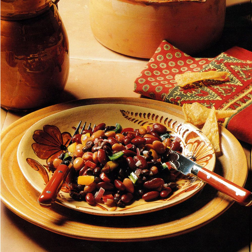 Three Beans and Three Peppers Salad