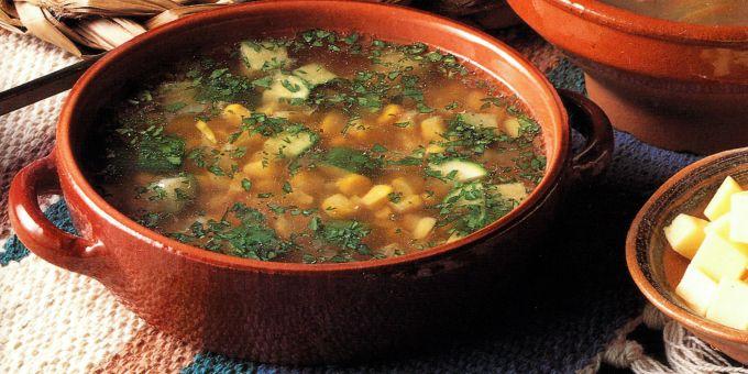 Corn, Zucchini and Cilantro Soup