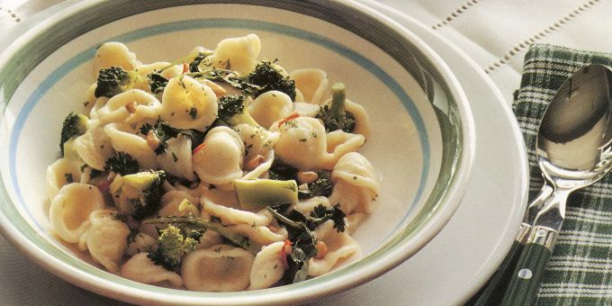 Orecchiette with Broccoli Rabe, Garlic and Pine Nuts