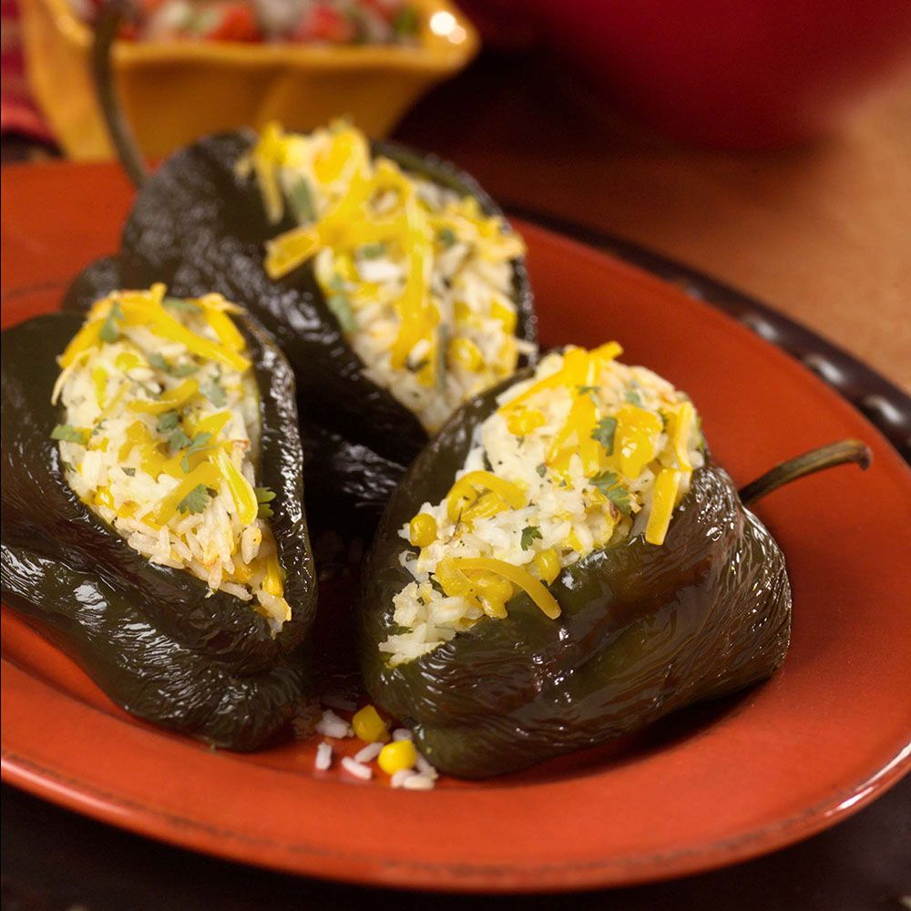 Rio Bravo Rice-Stuffed Poblanos