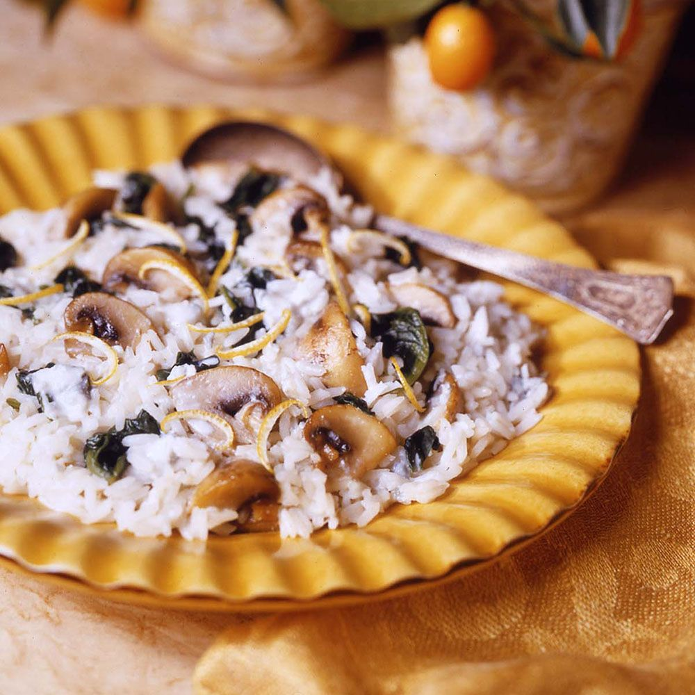 Gorgonzola Lemon Rice