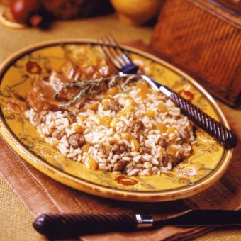 Sausage and Apricot Balsamic Rice