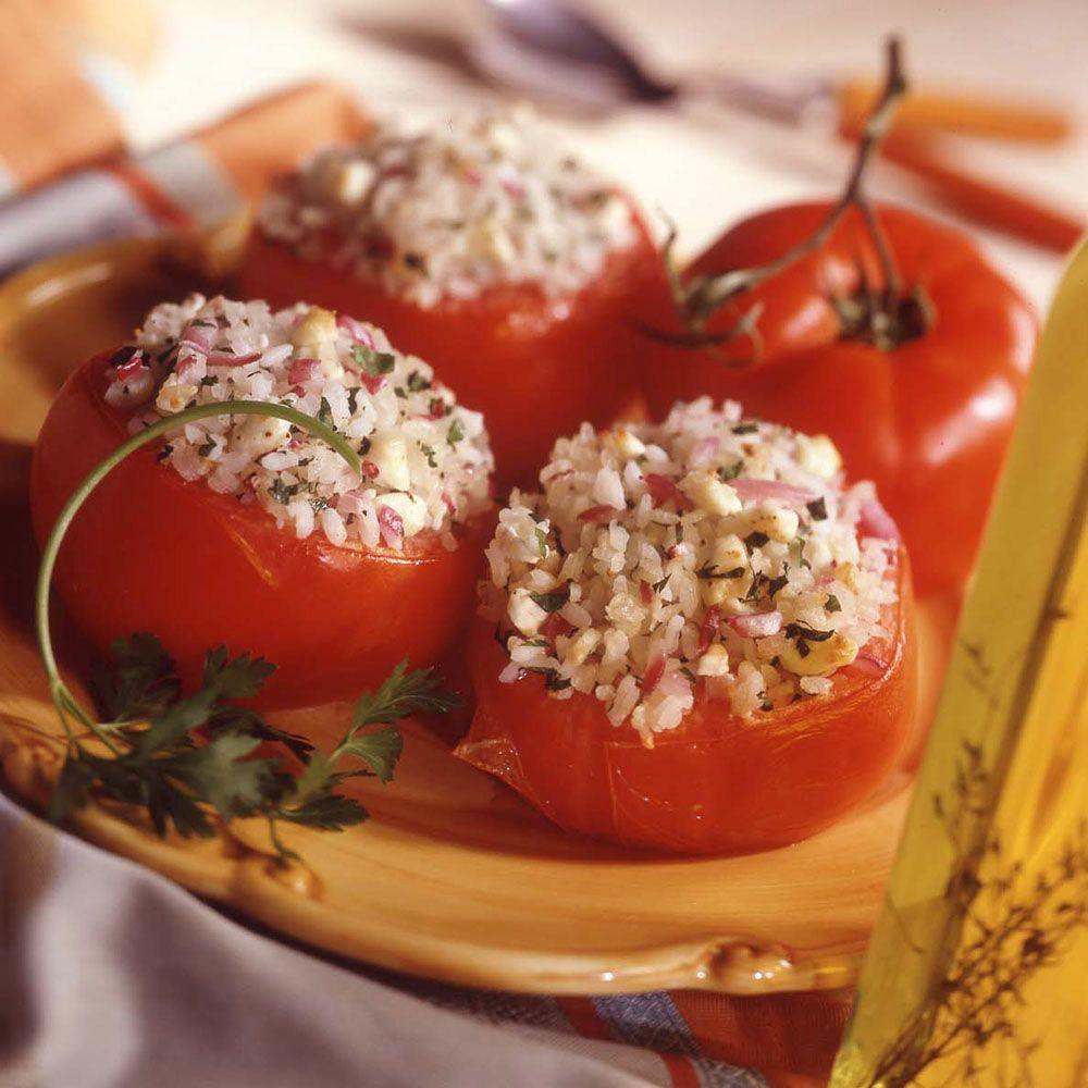 Greek Rice Stuffed Tomatoes
