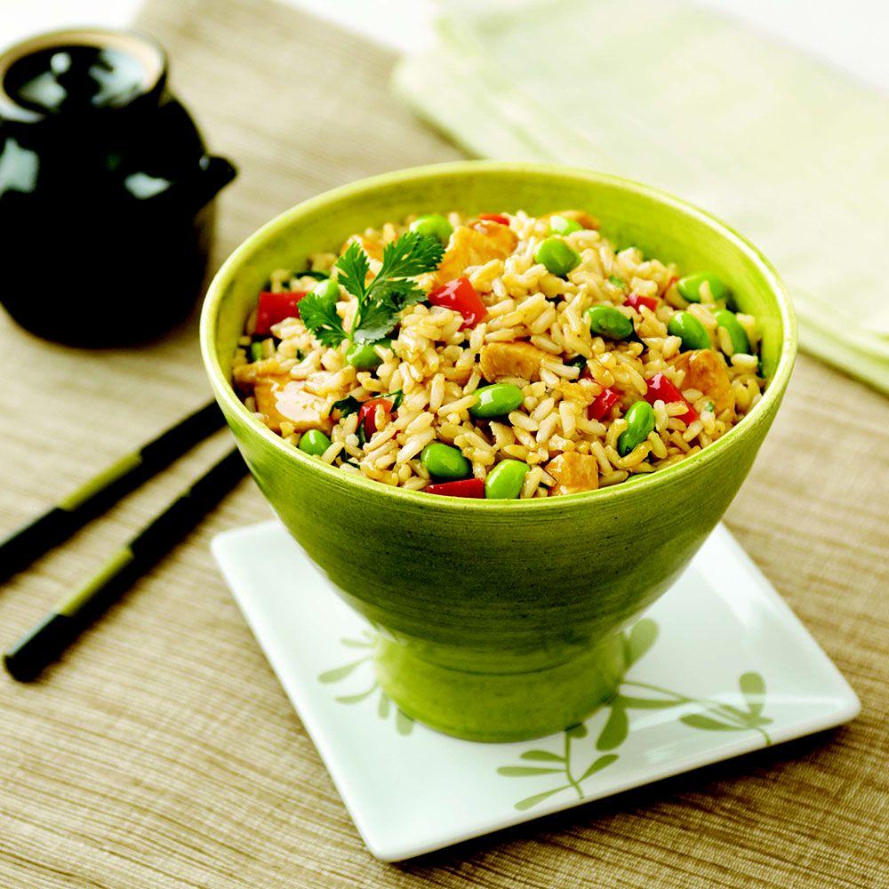 Teriyaki Chicken and Edamame Rice Bowls