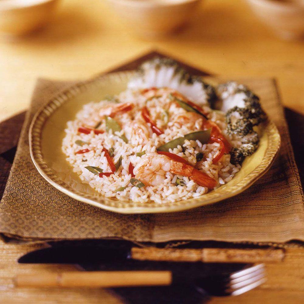 Gingered Rice Shrimp Salad