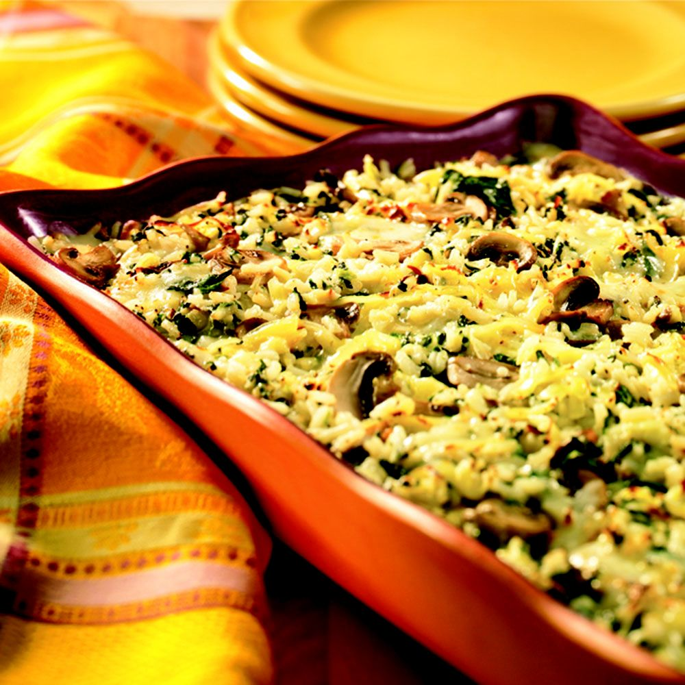 Smoked Gouda and Spinach Rice Casserole