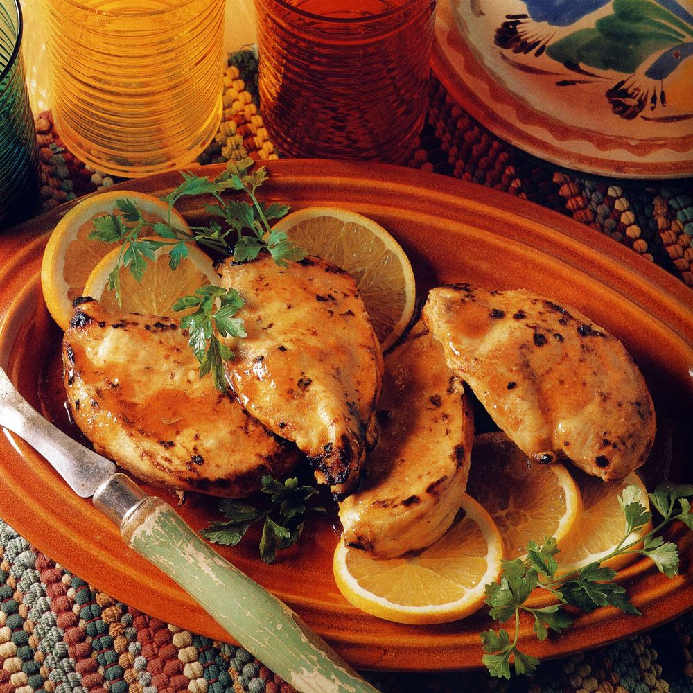 Grilled Citrus-Marinated Chicken Breast