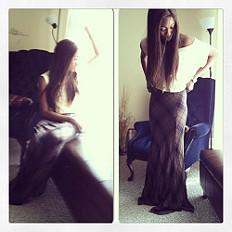 Cameron Plaid Maxi Skirt style pic
