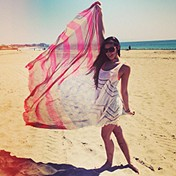 Voile and Lace Trapeze Slip goes to the beach!