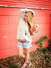Lace Back Oversized Pullover style pic