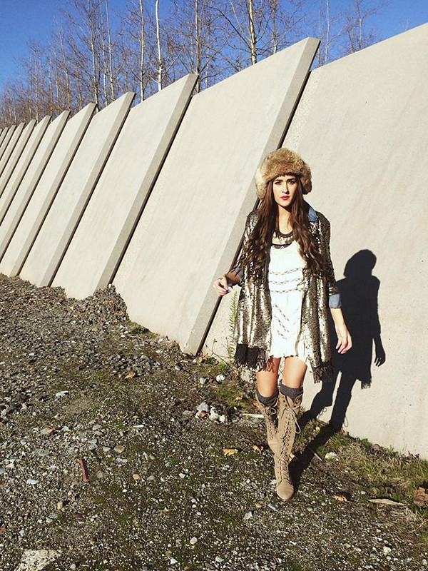 near the train tracks for Free People Bellevue. shot/styled by Nikki Cloud
