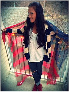 Tattered Flag Scarf style pic