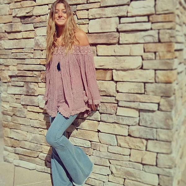 Off-the-Shoulder Tunic style pic