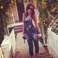 sunglasses...and overalls