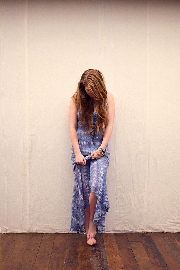 Washed Out Textured Maxi style pic