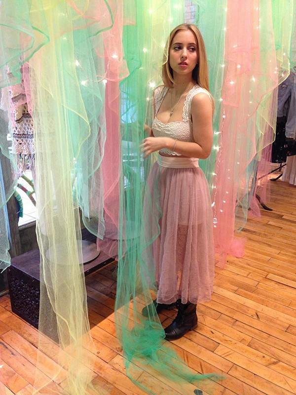 Raw Tulle Skirt style pic