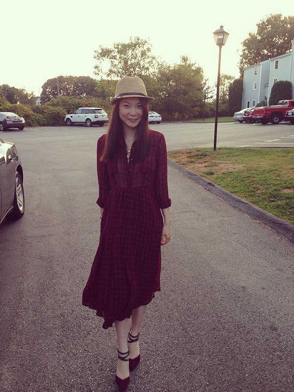 the right dress for fall. love it~