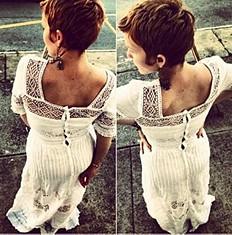 Mix In The Crochet Dress