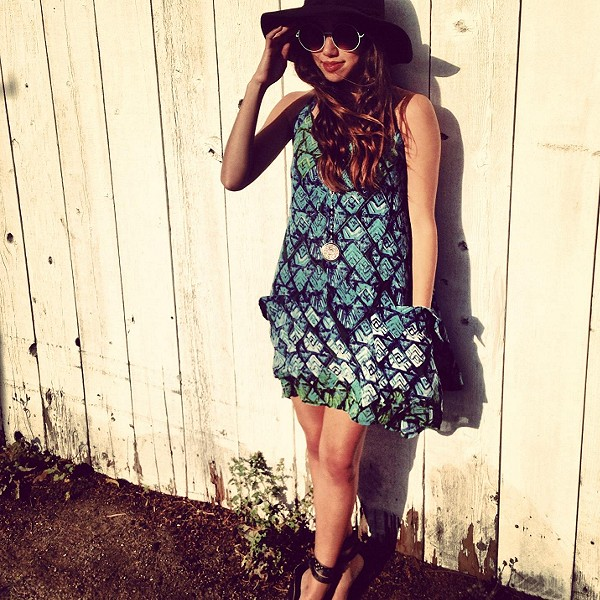 FP ONE Geo Shapeless Dress style pic