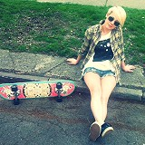 Limited Edition Free People Printed Skateboard sty