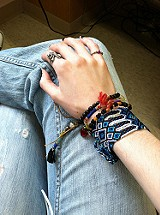 Oversized Friendship Bracelet style pic