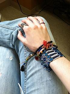 Oversized Friendship Bracelet style pic