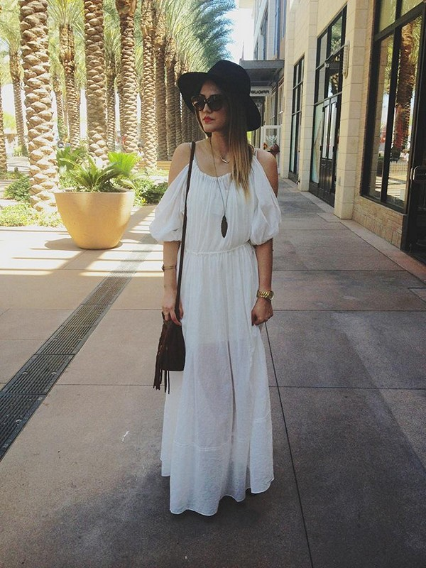 Open Shoulder Maxi Dress style pic