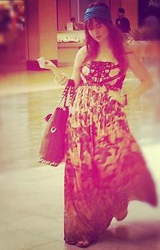 Sekayi Print Tube Dress style pic