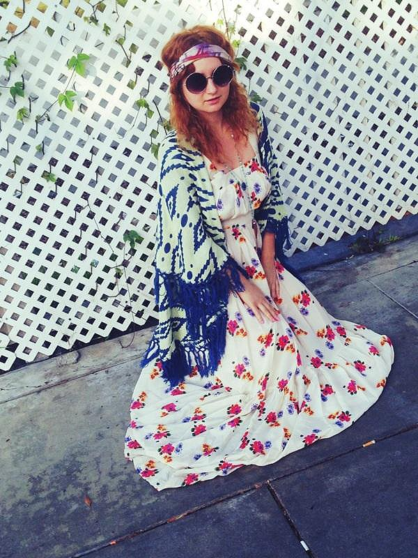 Joie Rose Print Maxi