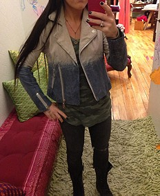 Dip Dye Leather Jacket style pic