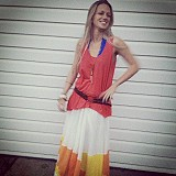 Manina Colorblock Skirt: Style Pic
