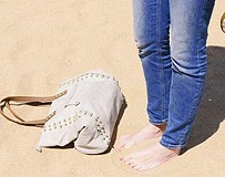 Saratoga Stud Tote in the sand!