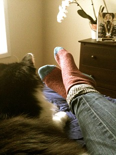 Colorblock Boot Sock style pic