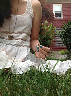 being one with the grass